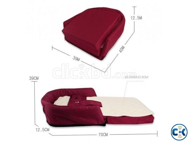 4in1 multifunctional Baby Bed Sofa Chair Portable Foldable | ClickBD large image 1