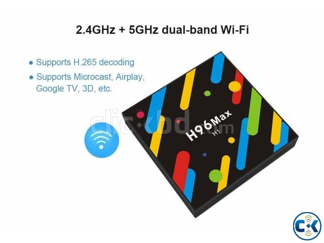 Smart TV Box H96 Max 4K Android 7.1 Hexa Core 4GB RAM | ClickBD large image 0