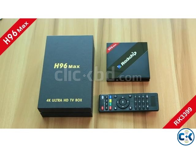 Smart TV Box H96 Max 4K Android 7.1 Hexa Core 4GB RAM | ClickBD large image 1