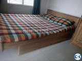 Solid Burmetic Segun Wood Bed