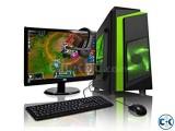 Desktop PC Core i5 250GB HDD 4GB RAM 17 Inch Monitor