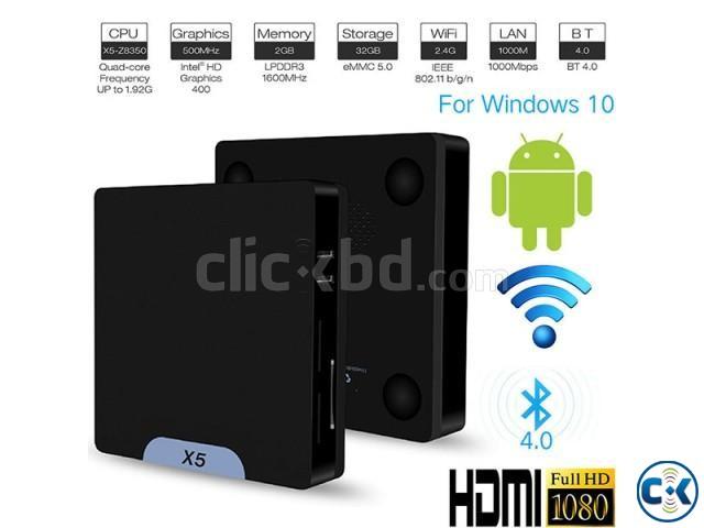 X5 Mini PC TV Box 64bit Win10 Android 5.1 | ClickBD large image 0