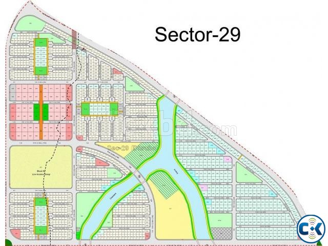 Purbachal Plot Sale 3 Katha Sector 129 | ClickBD large image 0