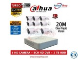Dahua 4 Port DVR 2MP CCTV Camera Setup