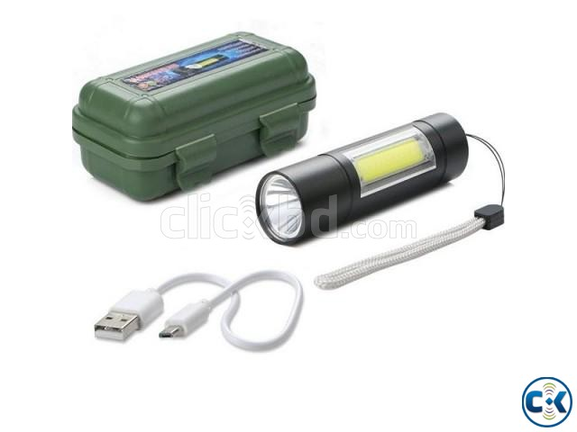 XPE COB LED Flashlight Metal Pocket Clip torch Rechargeable   ClickBD large image 1