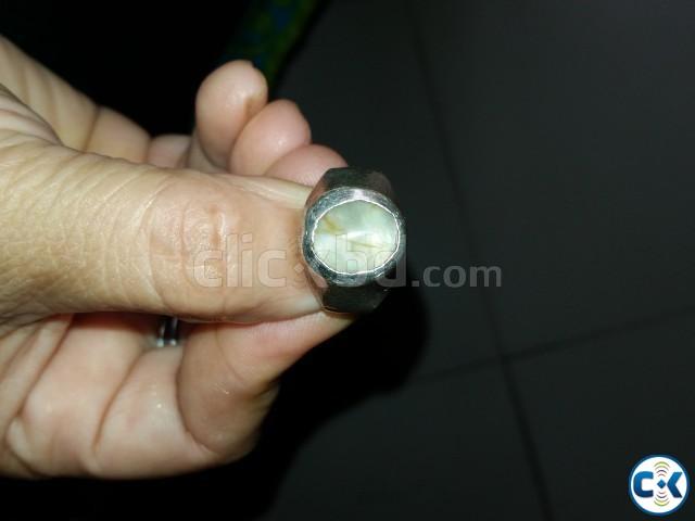 Original Natural Cats eye Stone Silver Made Ring | ClickBD large image 0