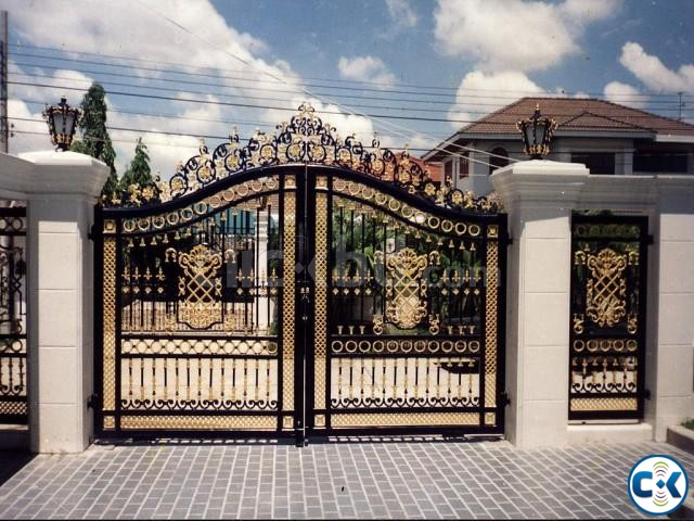 SS MS Steel Metal Engineering Workshop Gate Make by Steel | ClickBD large image 0