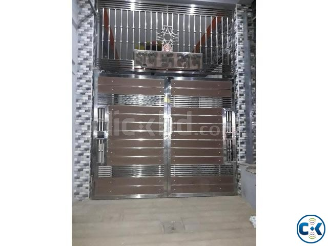 SS MS Steel Metal Engineering Workshop Gate Make by Steel | ClickBD large image 1