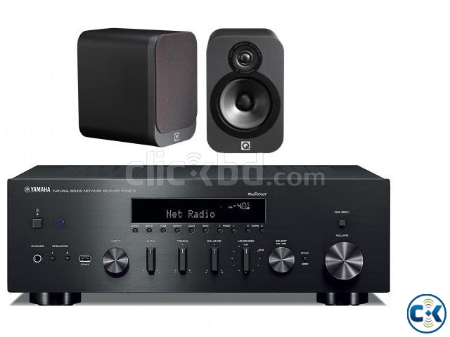 Q Acoustics 3020 Bookshelf Speakers Yamaha R-N602   ClickBD large image 0