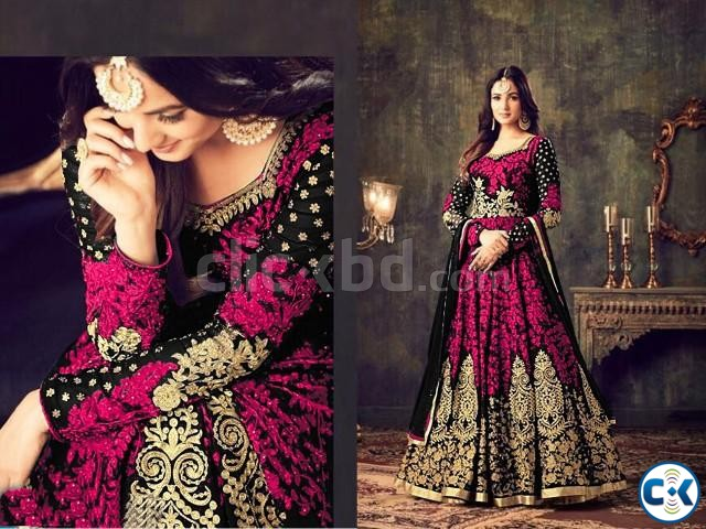 georgette with embroidery work salwar kameez suit maisha 041 | ClickBD large image 0