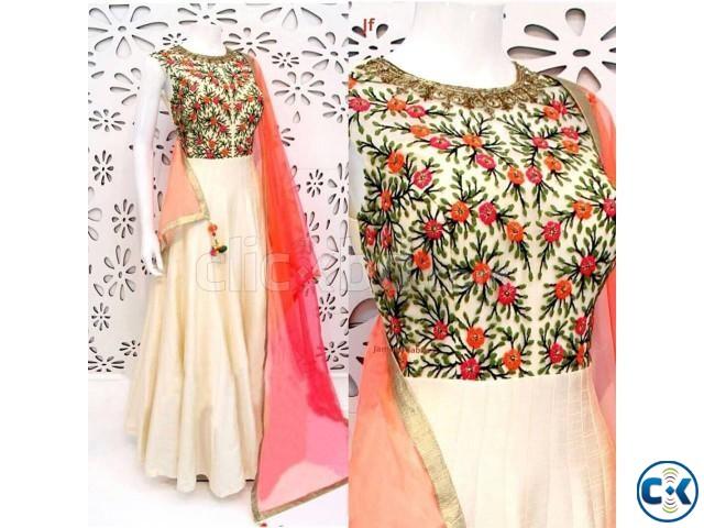georgette with embroidery work salwar kameez suit nokshi 02   ClickBD large image 0