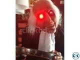 HALLOWEEN Decoration Standing Bobble Head Butler Red Eye