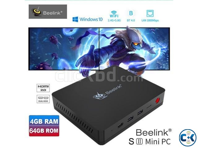 Beelink S2 Intel Gemini Lake N4100 4GB DDR4 64GB Mini PC | ClickBD large image 0