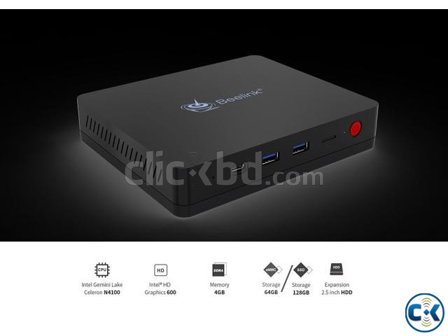 Beelink S2 Intel Gemini Lake N4100 4GB DDR4 64GB Mini PC | ClickBD large image 1