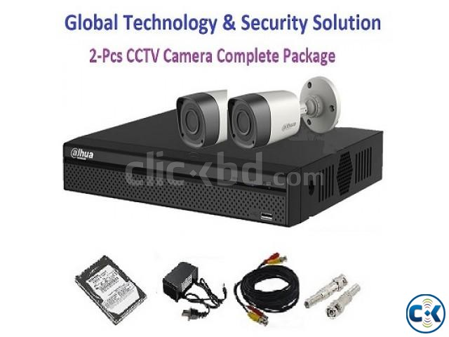 2-Pcs HD CCTV Camera Complete Package | ClickBD large image 1