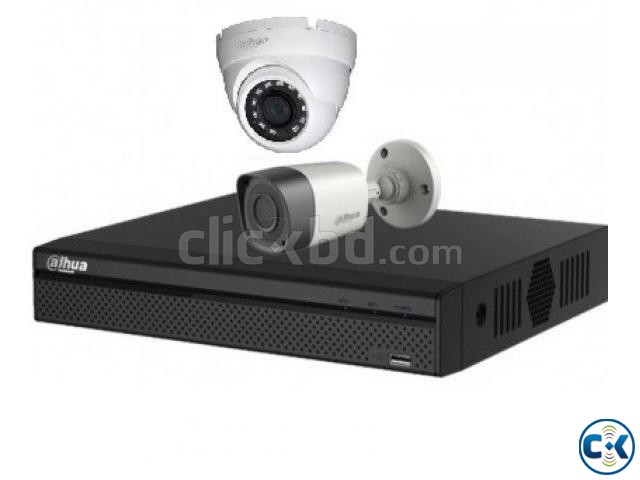 2-Pcs HD CCTV Camera Complete Package | ClickBD large image 2