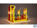 Exhibition Stall Fabrication Kiosk Pavilion Trade Fair Stall