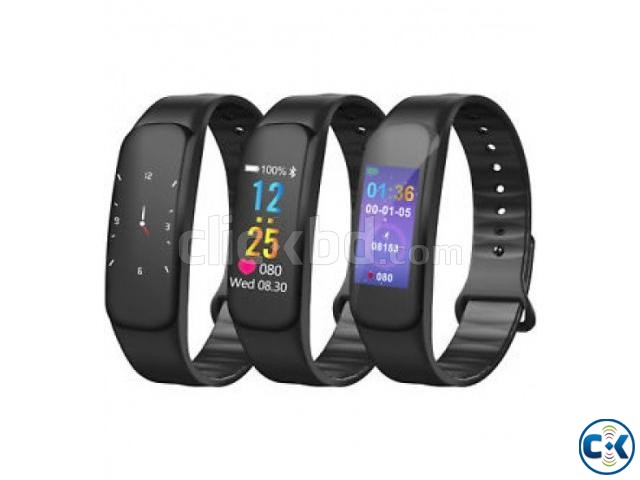 C1 Plus Smart Band Color Screen Blood Pressure Water-proof   ClickBD large image 1