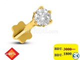 Diamond With Gold nose pin 40 off