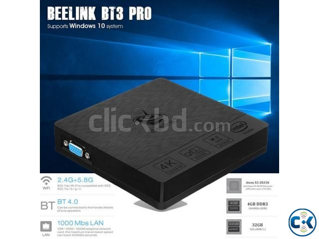 Beelink BT3 Pro Mini PC 4GB 32GB Intel Atom x5-Z8350 Process | ClickBD large image 0