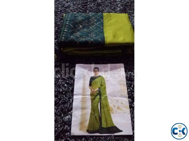 New Indian Printed Georgette Saree New Collection 2018 BD | ClickBD large image 4