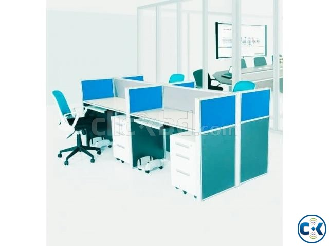 workstation and office furniture cubicle desk   ClickBD large image 0
