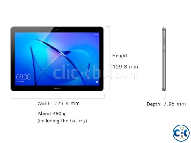 Huawei Media Pad T3 10 Quad Core 2GB RAM 9.6 Inch Tablet PC | ClickBD large image 1