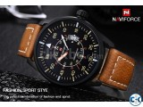 NAVIFORCE Man Leather Strap Watch D2