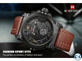 NAVIFORCE Man Leather Strap Watch D3