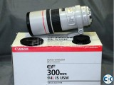 Canon EF 300mm f 4L IS USM Telephoto Prime Lens