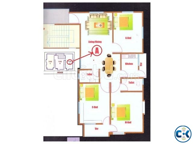 Flat for Rent Nobodoy Housing Mohammadpur | ClickBD large image 2