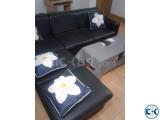 L shape Black color sofa