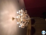 2 sets of crystal chandeliers