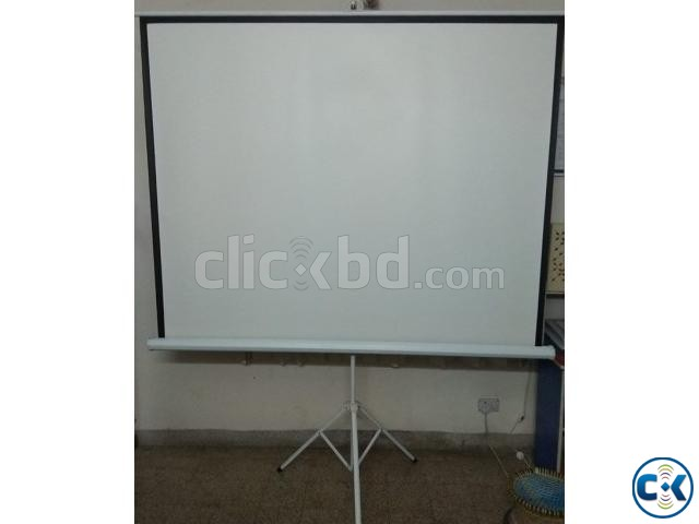 C6 Mini Led Projector Projection Screen Stand | ClickBD large image 0