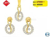 Diamond with Gold Pendant set 40 off
