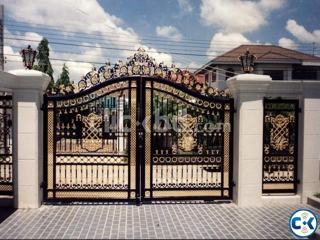 SS MS Steel Metal Engineering Workshop Gate Make Steel Pipe | ClickBD large image 0