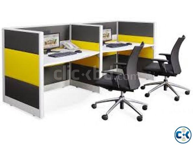 workstation and office furniture cubicle desk 2 desk  | ClickBD large image 0