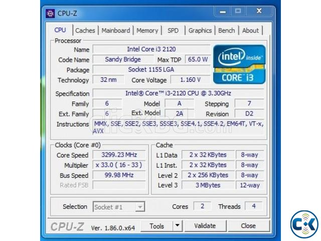 Processor Intel Core i3 2nd Generation | ClickBD large image 0