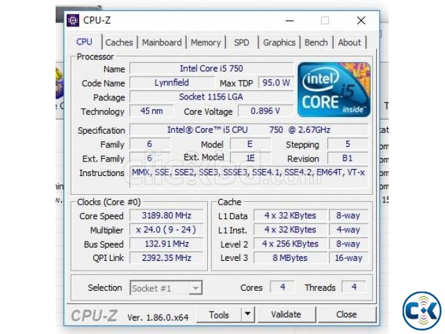 Intel i5 750 8mb Cache Motherboard   ClickBD large image 1