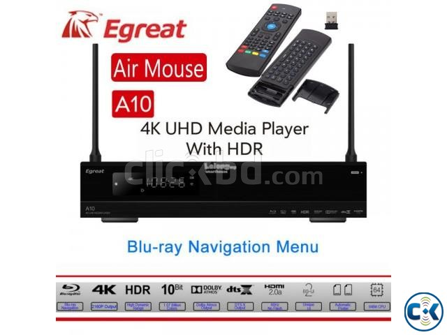 Egreat A10 Quad Core 2GB RAM 16GB ROM WiFi Media Player | ClickBD large image 0