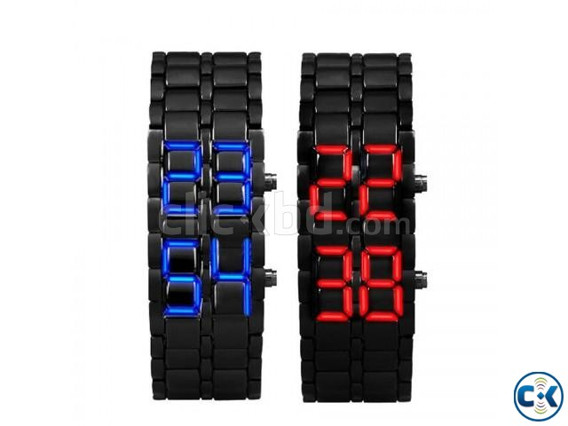 Samurai LED Wrist Watch -1PC | ClickBD large image 0