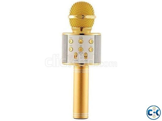 WS-858 Wireless Bluetooth Karaoke Mic | ClickBD large image 0