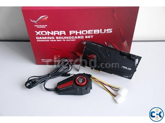 ASUS ROG XONAR PHOEBUS. with each and every accessories. box   ClickBD large image 0