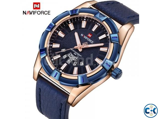 WW0059 Original Naviforce Day Date Belt Watch 9118   ClickBD large image 0