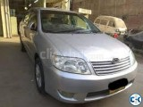 Toyota X Corolla 2004 New Shape