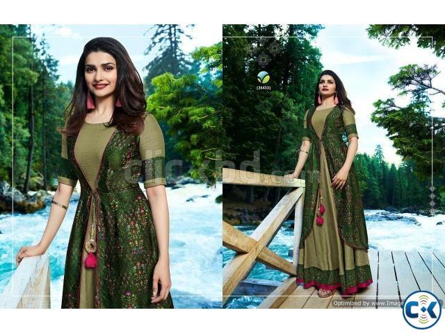 Wholesale Designer Gown Tumba-Lime Light- Textile Export | ClickBD large image 0
