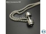 Dumbbell 100 Stainless Steel Men s Chain