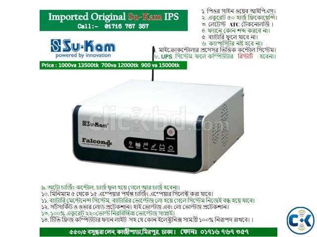 IPS Sukam 1000va Imported IPS 100 Original Pure Sine Wave | ClickBD large image 0