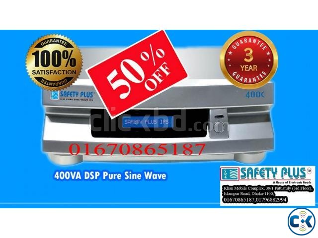 400VA DSP Pure Sine Wave Safety Plus IPS | ClickBD large image 0