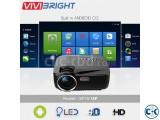 Vivibright GP70UP Android Mini Projector 3D HD TV Projector